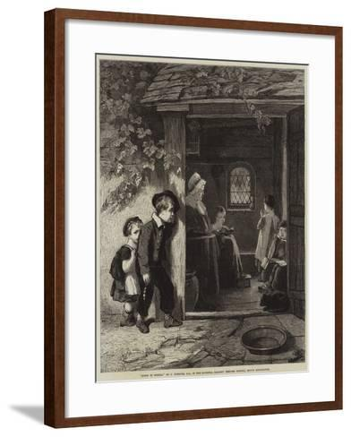 Going to School-Thomas Webster-Framed Art Print