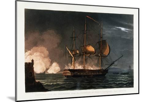Cutting Out the Hermoine from the Harbour of Porto Cavailo-Thomas Whitcombe-Mounted Giclee Print