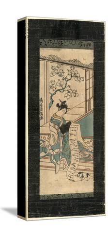 Fumi Yomu Yujo-Torii Kiyomitsu-Stretched Canvas Print