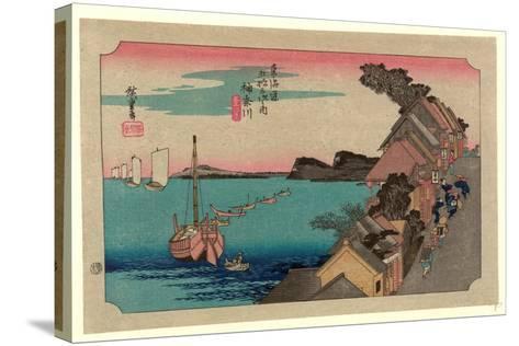 Kanagawa-Utagawa Hiroshige-Stretched Canvas Print