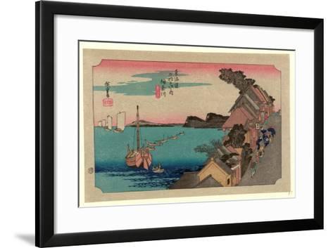 Kanagawa-Utagawa Hiroshige-Framed Art Print
