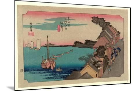 Kanagawa-Utagawa Hiroshige-Mounted Giclee Print