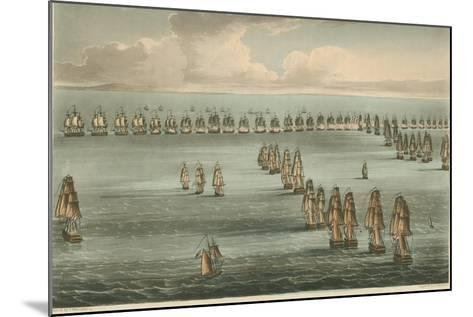 Commencement of the Battle of Trafalgar, 1805-Thomas Whitcombe-Mounted Giclee Print