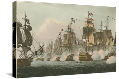 Battle of Trafalgar, 1805-Thomas Whitcombe-Stretched Canvas Print