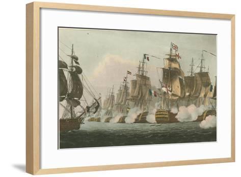 Battle of Trafalgar, 1805-Thomas Whitcombe-Framed Art Print