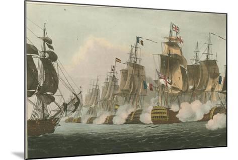 Battle of Trafalgar, 1805-Thomas Whitcombe-Mounted Giclee Print