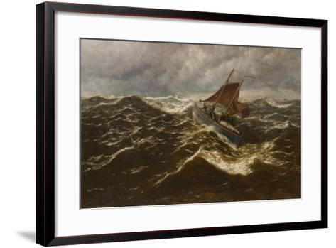 Away to the Goodwin Sands (Dover Lifeboat)-Thomas Rose Miles-Framed Art Print