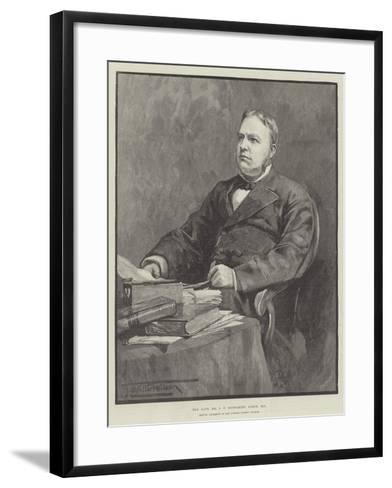 The Late Mr J F Bottomley Firth, Mp, Deputy Chairman of the London County Council-Thomas Walter Wilson-Framed Art Print