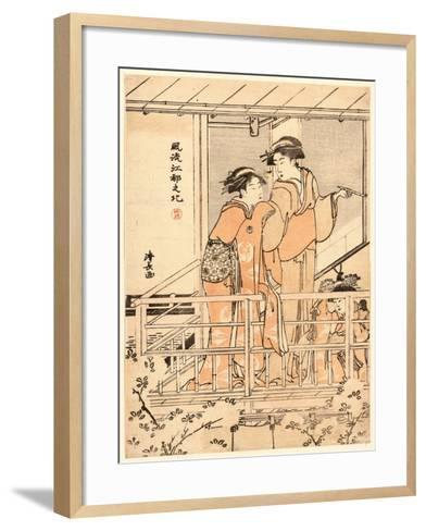 Hanami-Torii Kiyonaga-Framed Art Print