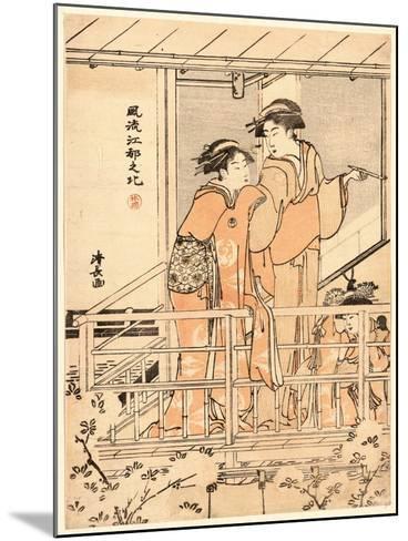 Hanami-Torii Kiyonaga-Mounted Giclee Print