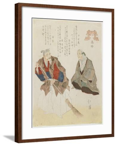 Takasago, Beach, C. 1832-Toyota Hokkei-Framed Art Print