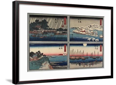 Evening Snow at Shinobazu-Utagawa Hiroshige-Framed Art Print