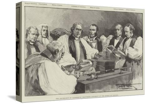 The Archbishop of Canterbury Delivering Judgment on the Bishop of Lincoln-Thomas Walter Wilson-Stretched Canvas Print
