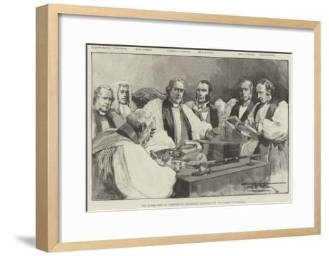 The Archbishop of Canterbury Delivering Judgment on the Bishop of Lincoln-Thomas Walter Wilson-Framed Art Print