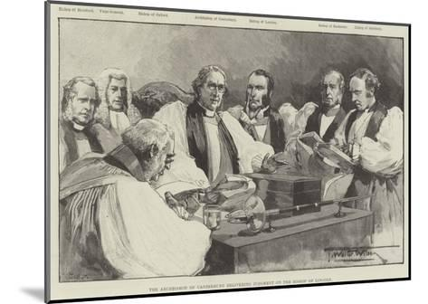 The Archbishop of Canterbury Delivering Judgment on the Bishop of Lincoln-Thomas Walter Wilson-Mounted Giclee Print