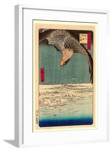 Fukagawa Susaki Jumantsubo-Utagawa Hiroshige-Framed Art Print