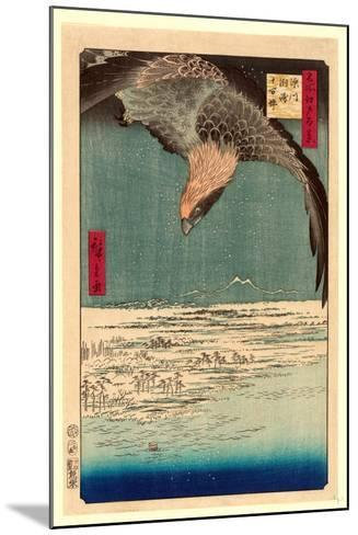 Fukagawa Susaki Jumantsubo-Utagawa Hiroshige-Mounted Giclee Print
