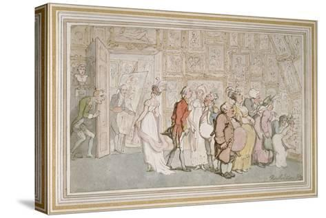 The Portrait Painter's Ante-Room-Thomas Rowlandson-Stretched Canvas Print