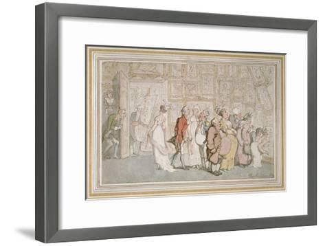 The Portrait Painter's Ante-Room-Thomas Rowlandson-Framed Art Print