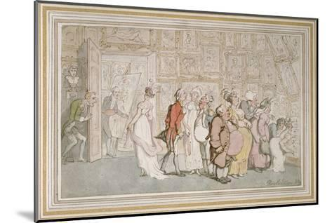 The Portrait Painter's Ante-Room-Thomas Rowlandson-Mounted Giclee Print