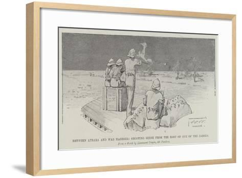 Between Atbara and Wad Habesha, Shooting Geese from the Roof of One of the Barges-Thomas Walter Wilson-Framed Art Print