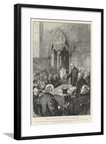 Unveiling the Lowell Memorial Window in the Chapter House of Westminster Abbey-Thomas Walter Wilson-Framed Art Print