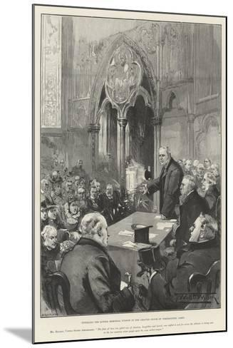 Unveiling the Lowell Memorial Window in the Chapter House of Westminster Abbey-Thomas Walter Wilson-Mounted Giclee Print
