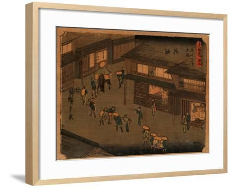 Goyu-Utagawa Hiroshige-Framed Art Print