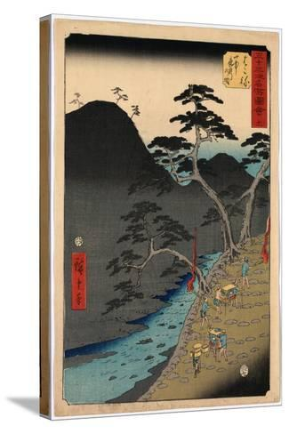 Hakone-Utagawa Hiroshige-Stretched Canvas Print