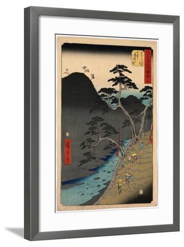 Hakone-Utagawa Hiroshige-Framed Art Print