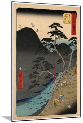 Hakone-Utagawa Hiroshige-Mounted Giclee Print