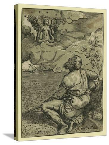 M. Pietro Aretino-Titian (Tiziano Vecelli)-Stretched Canvas Print