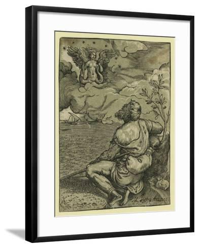 M. Pietro Aretino-Titian (Tiziano Vecelli)-Framed Art Print
