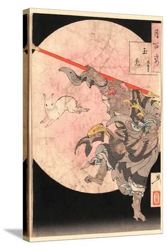 Tamausagi Songoku-Tsukioka Yoshitoshi-Stretched Canvas Print