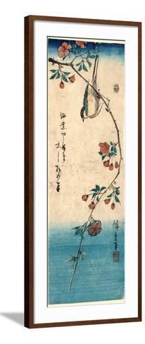 Kaido Ni Shokin-Utagawa Hiroshige-Framed Art Print