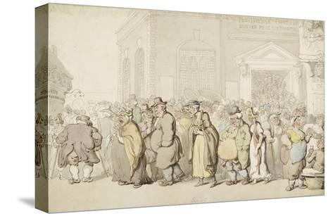Providence Chapel (Pen and Black and Brown Ink and Watercolour, over Faint Indications in Graphite)-Thomas Rowlandson-Stretched Canvas Print
