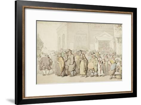 Providence Chapel (Pen and Black and Brown Ink and Watercolour, over Faint Indications in Graphite)-Thomas Rowlandson-Framed Art Print