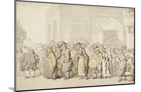 Providence Chapel (Pen and Black and Brown Ink and Watercolour, over Faint Indications in Graphite)-Thomas Rowlandson-Mounted Giclee Print