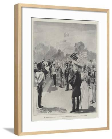 The Ancient and Honourable Artillery Company of Massachusetts Inspected by the Queen at Windsor-Thomas Walter Wilson-Framed Art Print