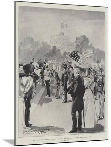 The Ancient and Honourable Artillery Company of Massachusetts Inspected by the Queen at Windsor-Thomas Walter Wilson-Mounted Giclee Print