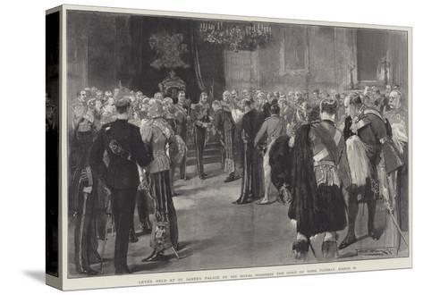 Levee Held at St James's Palace by His Royal Highness the Duke of York, Tuesday, 13 March-Thomas Walter Wilson-Stretched Canvas Print