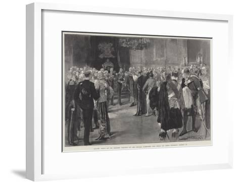 Levee Held at St James's Palace by His Royal Highness the Duke of York, Tuesday, 13 March-Thomas Walter Wilson-Framed Art Print