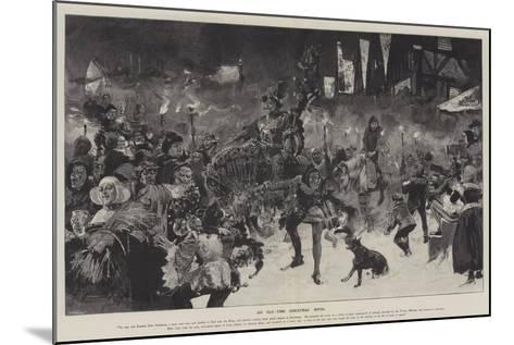 An Old-Time Christmas Revel-Thomas Walter Wilson-Mounted Giclee Print