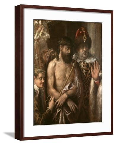 Christ Shown to the People (Ecce Homo) C.1570-76-Titian (Tiziano Vecelli)-Framed Art Print