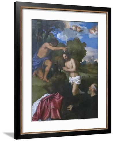The Baptism of Christ, C.1512-Titian (Tiziano Vecelli)-Framed Art Print
