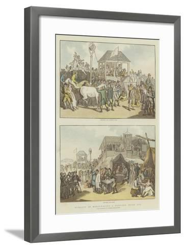 Humours of Horse-Racing a Hundred Years Ago-Thomas Rowlandson-Framed Art Print