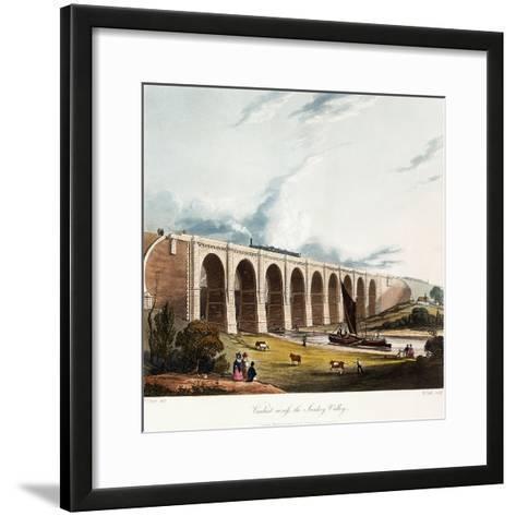 Viaduct across the Sankey Valley, 1831 (Colour Aquatints, Partly Hand-Coloured)-Thomas Talbot Bury-Framed Art Print