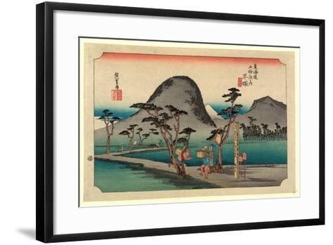 Hiratsuka-Utagawa Hiroshige-Framed Art Print