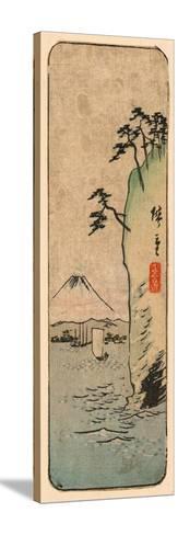 Honmoku Kara No Fuji [O Nozomu]-Utagawa Hiroshige-Stretched Canvas Print