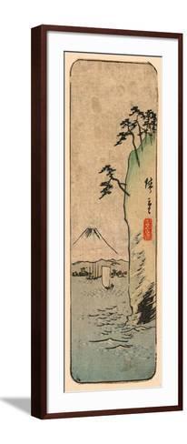 Honmoku Kara No Fuji [O Nozomu]-Utagawa Hiroshige-Framed Art Print